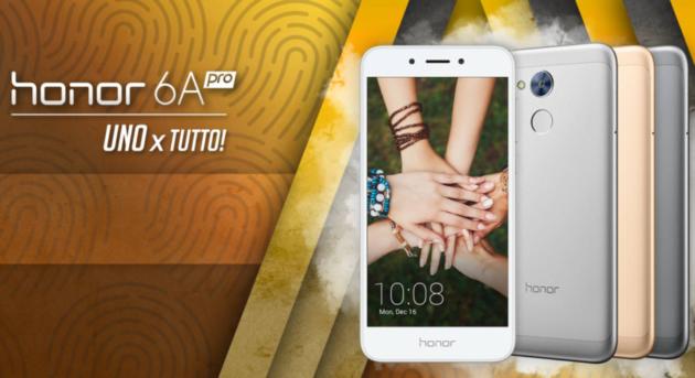 Honor 6A Pro: in Italia con lettore di impronte digitali
