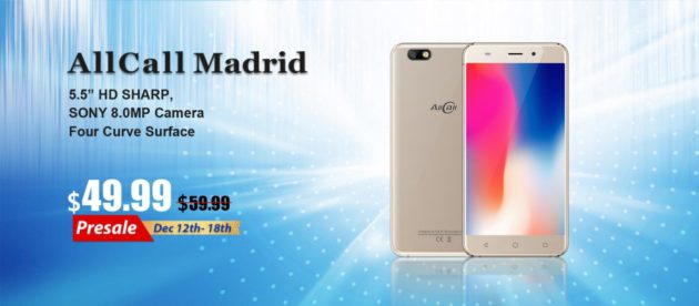 AllCall Madrid: presale a $49.99 su AliExpress