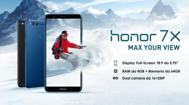 Honor 7X presentato ufficialmente, Kirin 659 e price tag di 300€