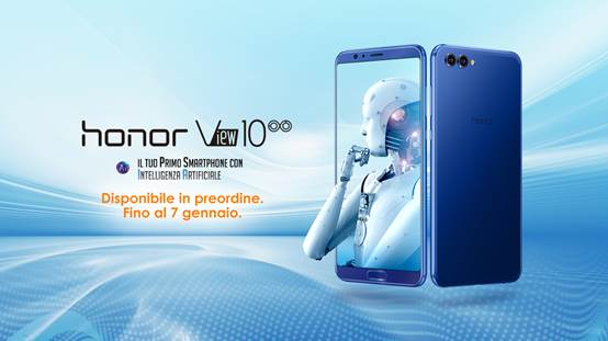 Honor View 10, anticipato il preordine