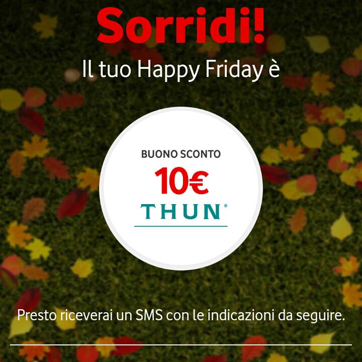 Vodafone Happy Friday il regalo di questa settimana – 11217