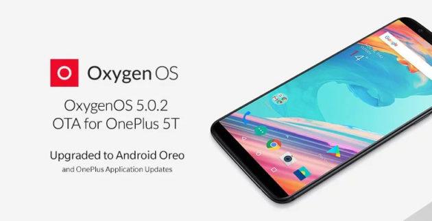 Nuovo aggiornamento per OnePlus 5 e 5T