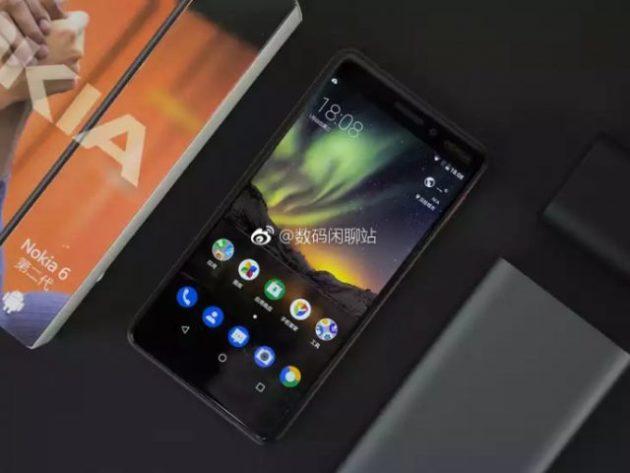 Nokia 6 (2018) si mostra in foto dal vivo