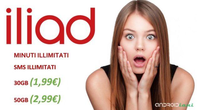 Iliad vuole lasciarvi a bocca aperta: 30GB e 50GB a 1,99€ e 2,99€?