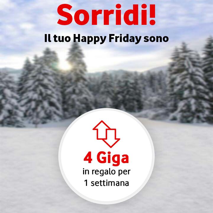 Vodafone Happy Friday il regalo di questa settimana – 090218