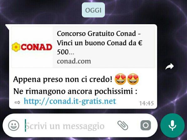WhatsApp buoni sconto Conad da 500 euro Certo, come no! (1)