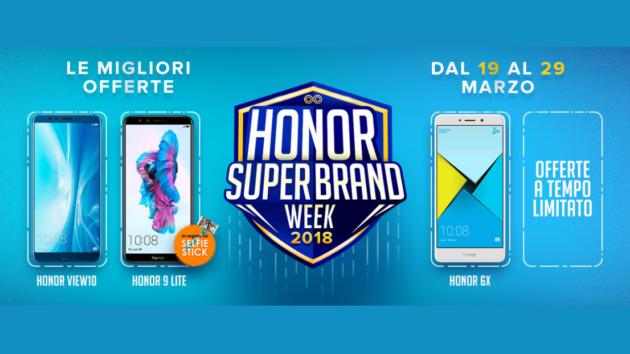 Honor celebra la SuperBrand Week con offerte da urlo