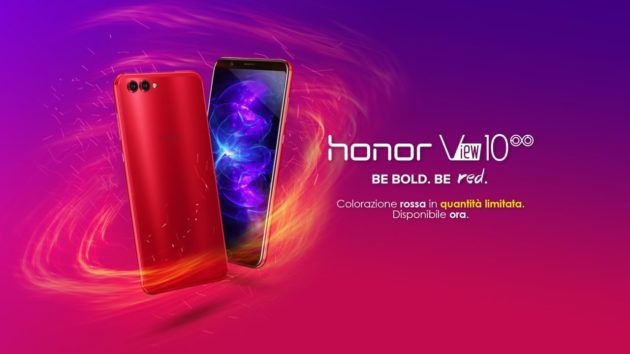 Honor View 10 Crush Red scontato a 449.90€ fino a domenica