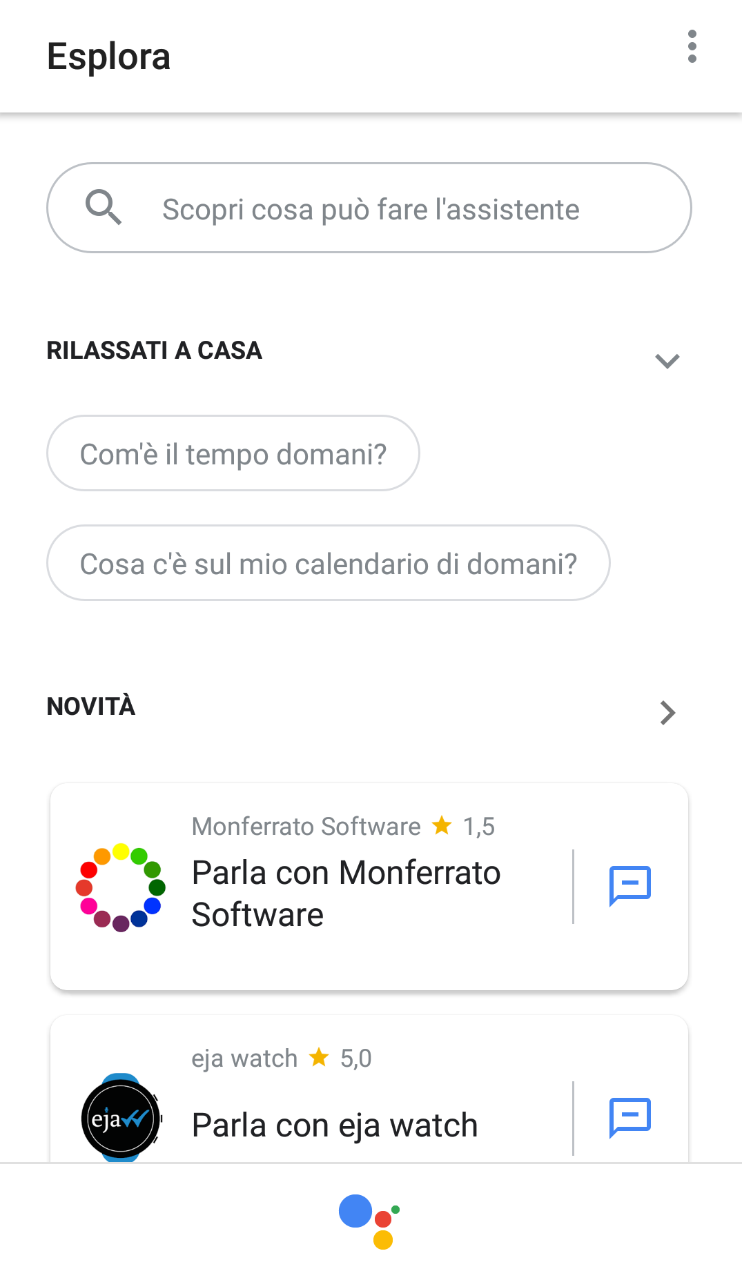 google assistant arriva l 39 integrazione con diverse app. Black Bedroom Furniture Sets. Home Design Ideas