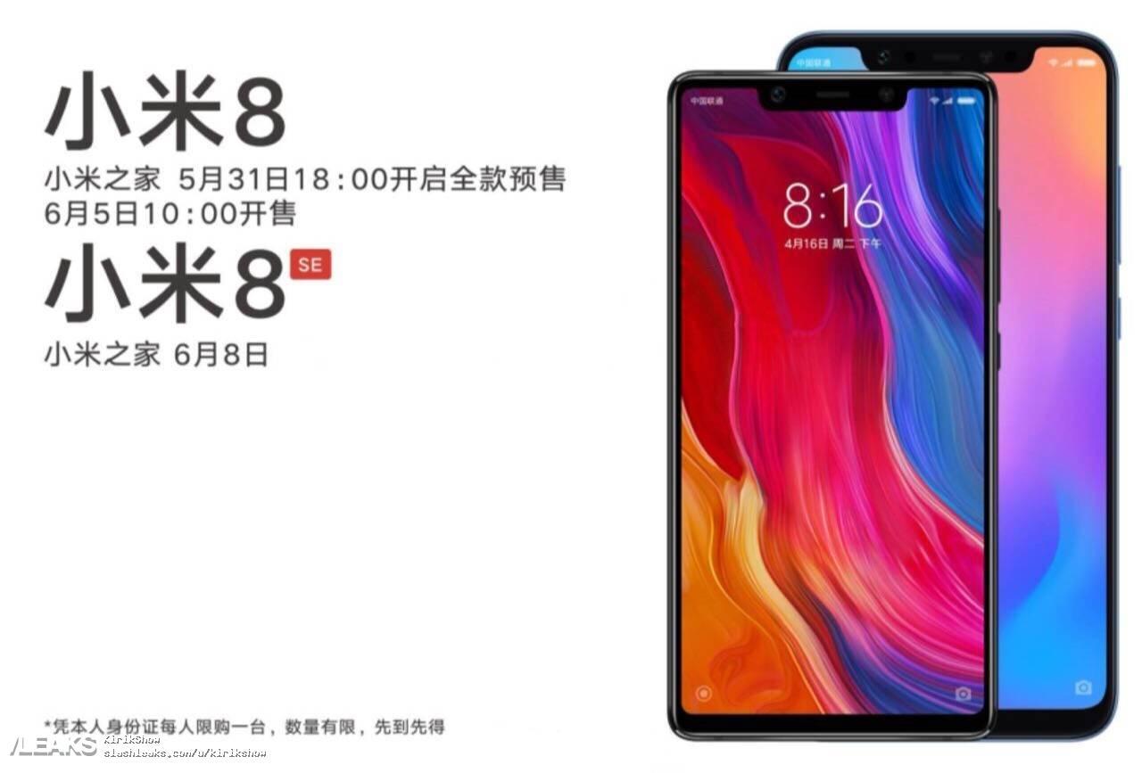 Xiaomi Mi 8 Mi 8 SE poster