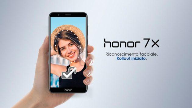 Honor 7X, nuovo aggiornamento e sblocco facciale