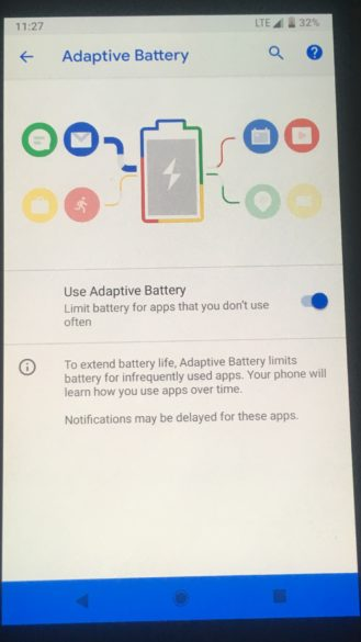 Android P batteria