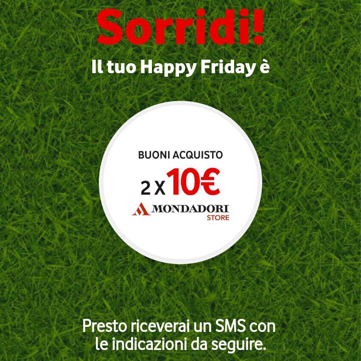 Vodafone Happy Friday il regalo di questa settimana - 040518