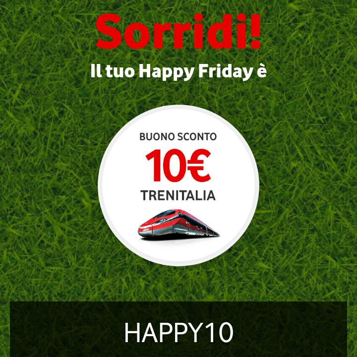 Vodafone Happy Friday il regalo di questa settimana - 110518
