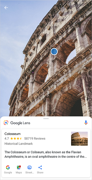 Colosseo Google Lens