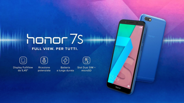 Honor 7S, l'entry level con display Full View a prezzo stracciato