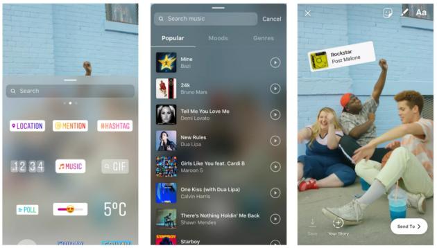 Instagram: brani musicali per le storie, usate da 400 milioni di utenti ogni giorno