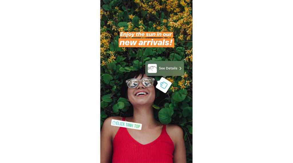 instagram shopping storie