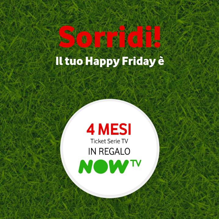 Vodafone Happy Friday il regalo di questa settimana - 010618