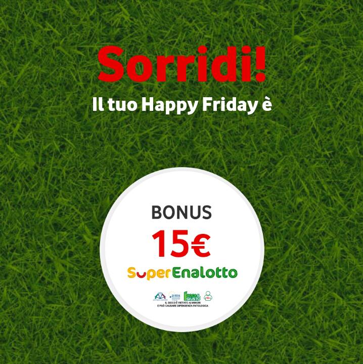 Vodafone Happy Friday il regalo di questa settimana - 080618
