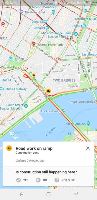 google maps segnalazione incidenti lavori strade chiuse