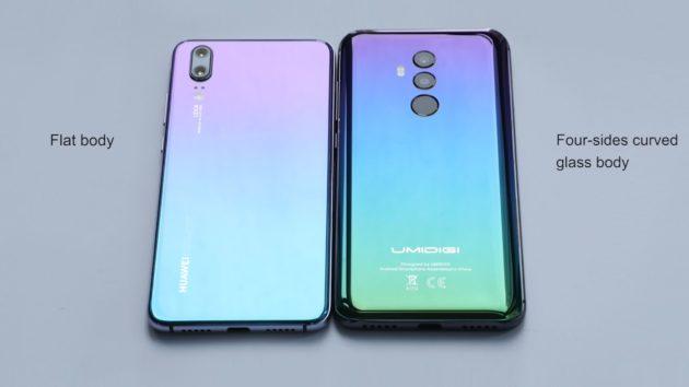 Huawei P20 ed UMIDIGI Z2: design a confronto
