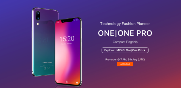 UMIDIGI One: in presale dal 6 Agosto