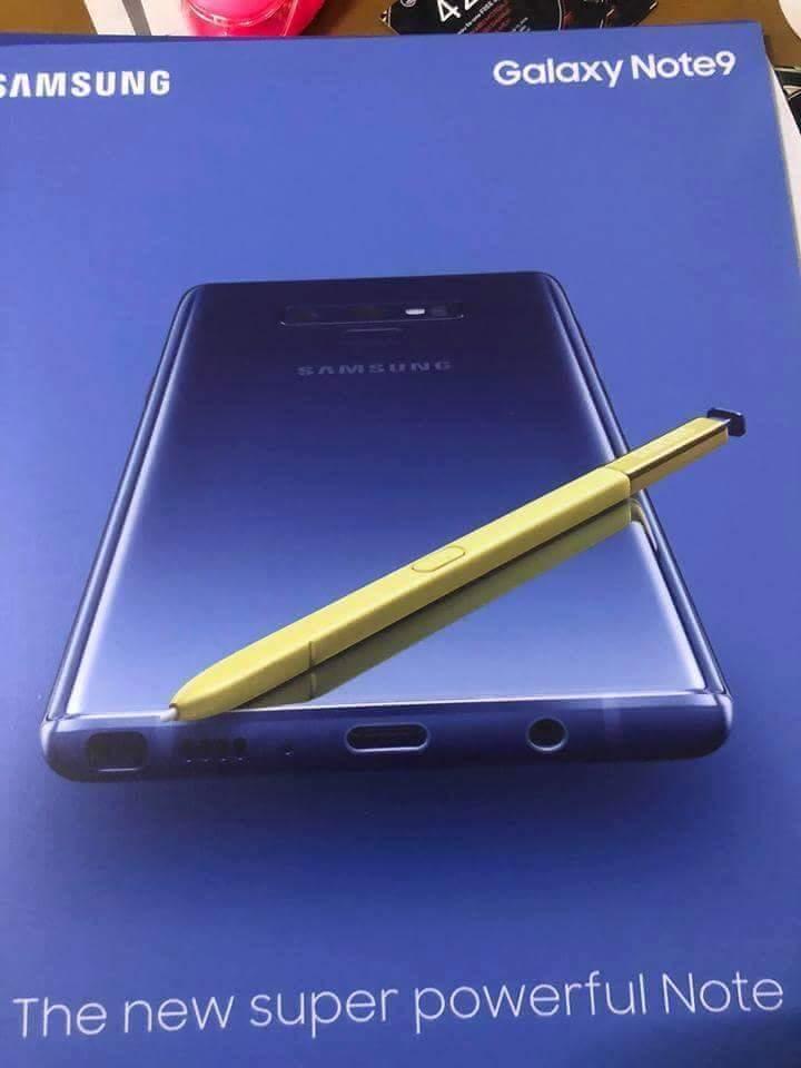 Galaxy Note 9 immagine ufficiale