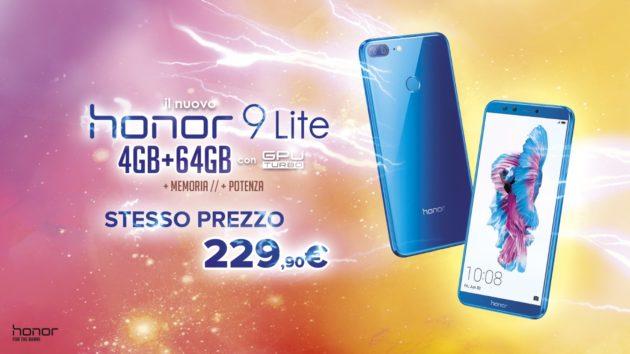 Honor 9 Lite approda sul mercato in versione potenziata grazie al nuovo formato 4/64GB
