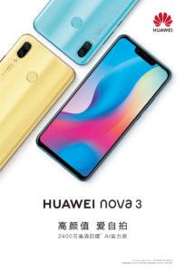 Teaser per Huawei Nova 3