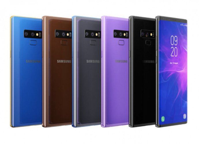 Samsung Galaxy Note 9 renders