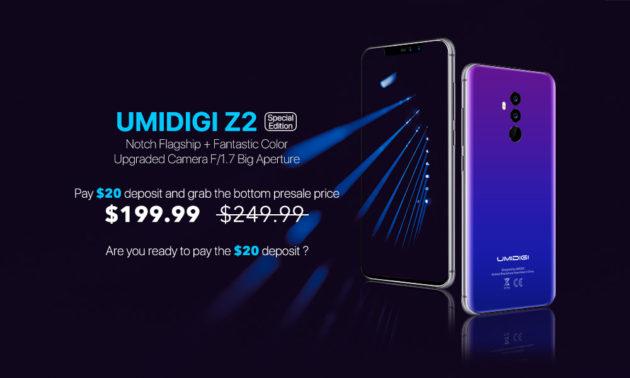 UMIDIGI Z2 Special Edition: aperti i preordini