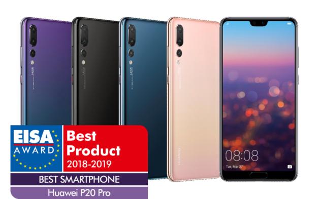 """Il premio EISA per """"miglior smartphone dell'anno"""" va a… Huawei P20 Pro"""