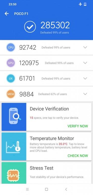 Xiaomi Pocophone F1 AnTuTu