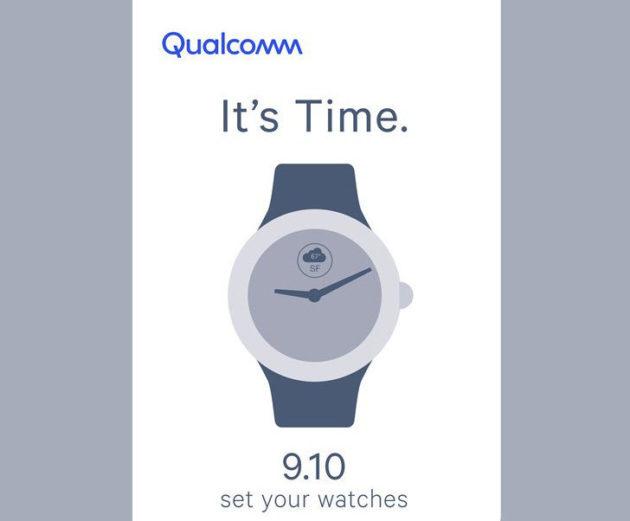 Qualcomm potrebbe presentare nuovi chip per smartwatch il 10 settembre