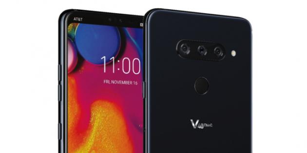 LG V40 ThinQ: notch e tripla fotocamera posteriore in una immagine leaked