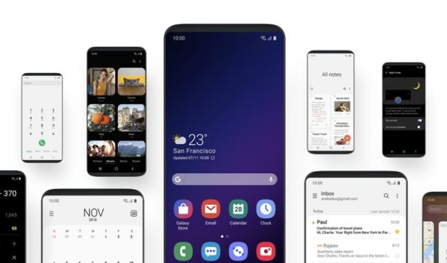 Samsung One UI:  breve video mostra l'interfaccia grafica su Galaxy S9+