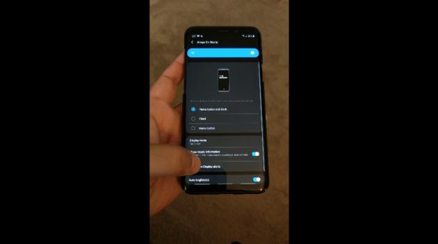 Samsung Galaxy S9 con Android 9 Pie: doppio tocco per attivare lo schermo