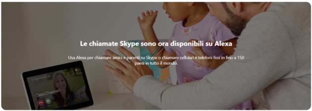 Skype: integrazione con Alexa con 200 minuti di bonus chiamate