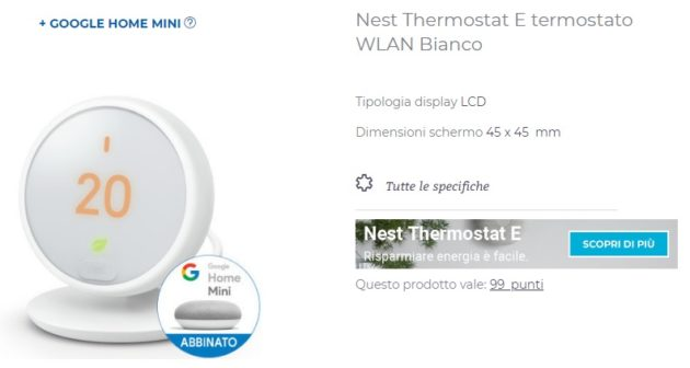 Termostato Nest in bundle con Google Home: Offerta Unieuro