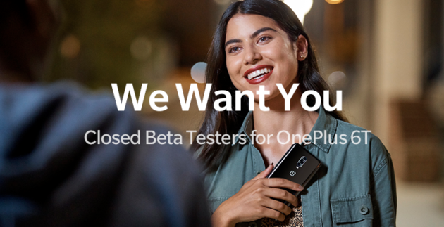 OnePlus 6T: candidatura per 100 Beta Tester per la Closed Beta