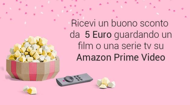Risultati immagini per amazon prime video ti regala 5 euro