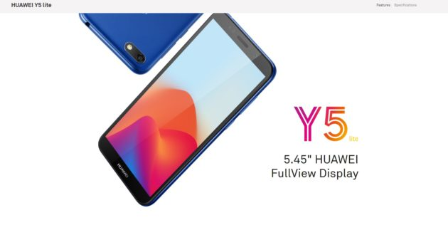 Huawei Y5 Lite ufficiale: Android Go a circa 100 euro