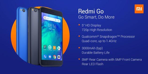 Redmi GO Ufficiale: dispositivo di fascia bassa con Android Go