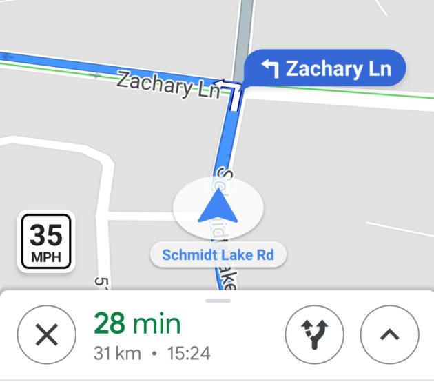 Google Maps: indicazioni sui limiti di velocità, solo negli USA