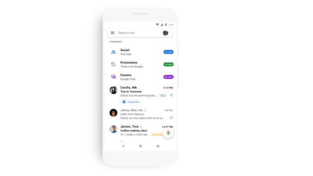Gmail: in arrivo la grafica Material Design per Android