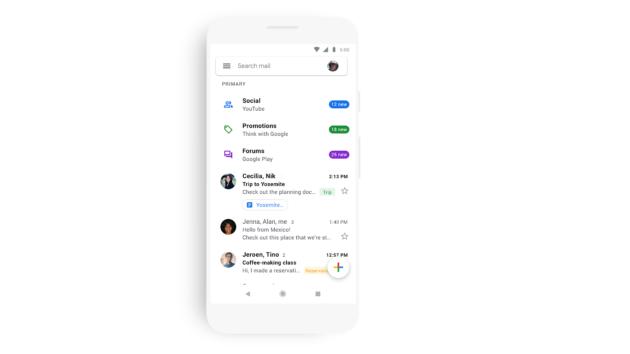Gmail: in arrivo la grafica Material Design per Android