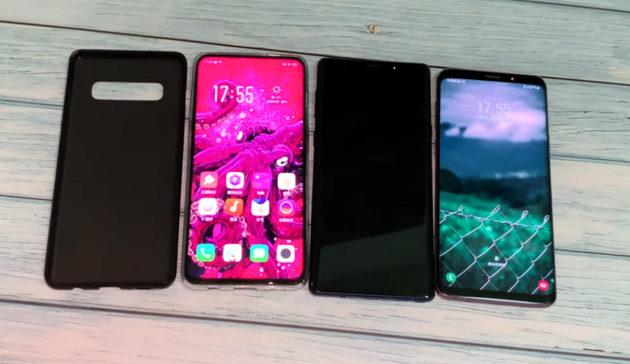Samsung Galaxy S10+: custodia confrontata con Galaxy S9+, Note 9 e Oppo Find X