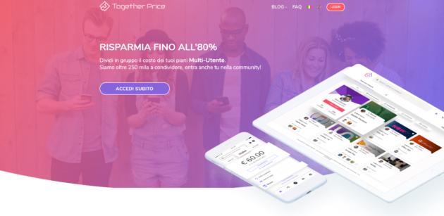 Together Price: condivisione di abbonamenti in modo facile e veloce