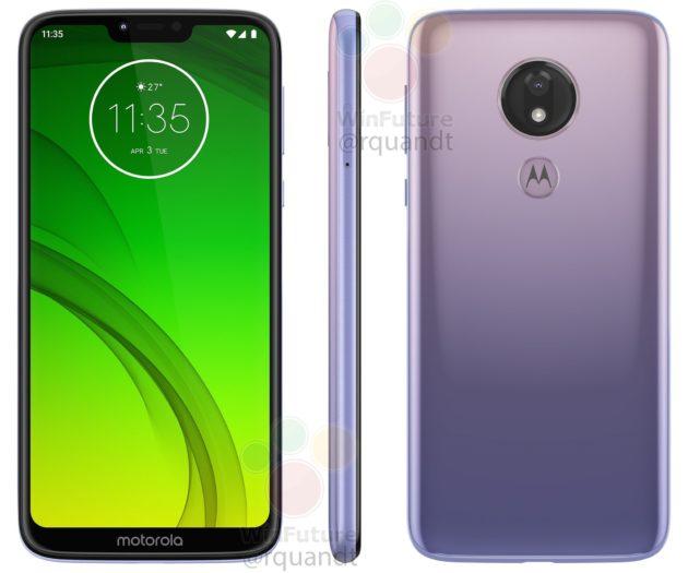 Motorola Moto G7 Power si mostra nella colorazione inedita viola gradiente